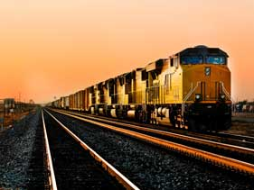 Freight Train on Track-Intermodal Freight Transportation