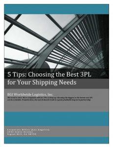 BGI White Paper - 5 Tips for Choosing a 3PL