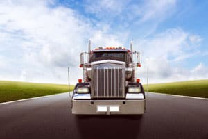 Domestic Freight Shipping-Freight Truck on Road